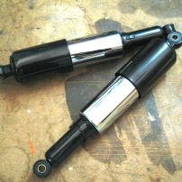 Type16A. Classic styled rear shock for Triumph Tiger Cub and other small cap. British bikes