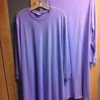 Long Sleeve Split Back Nightie - Lilac - size 10