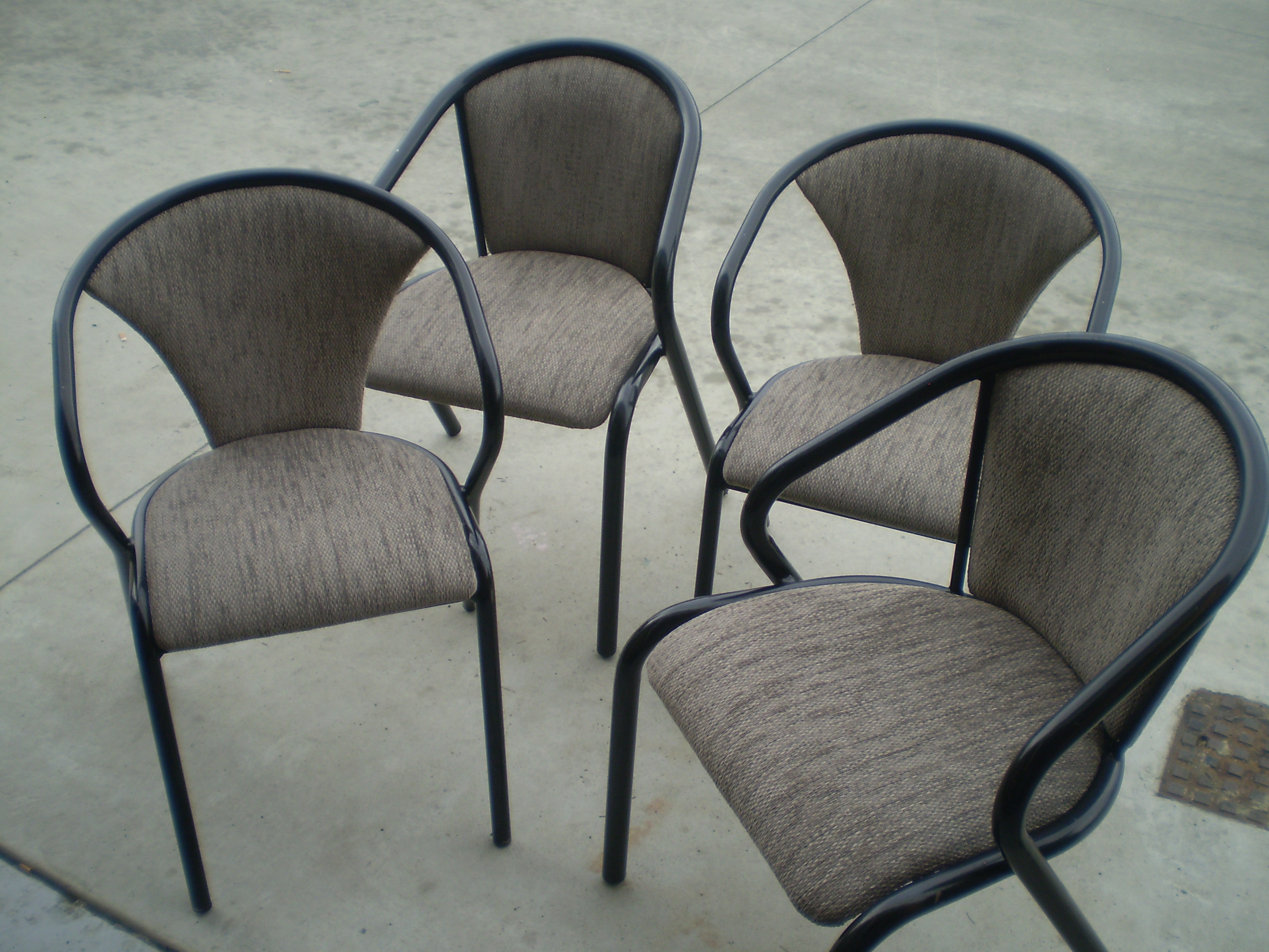 bistro chair reupholstery recovered in hardwearing commercial grade