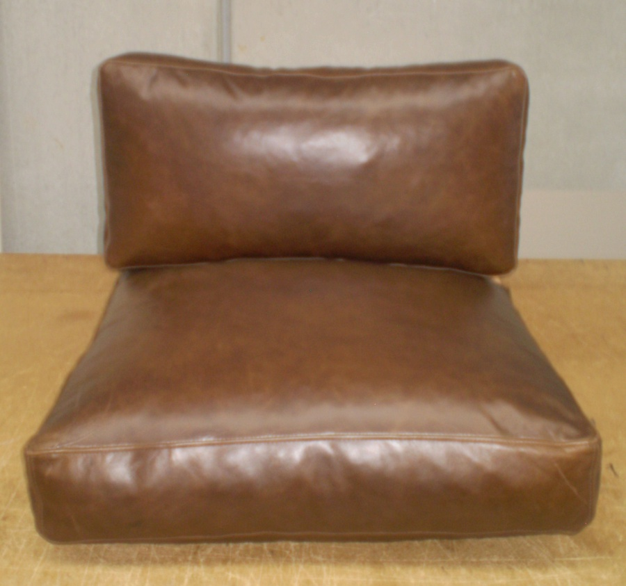 Replacement leather cushion covers pictures to pin on for Leather couch cushion replacement