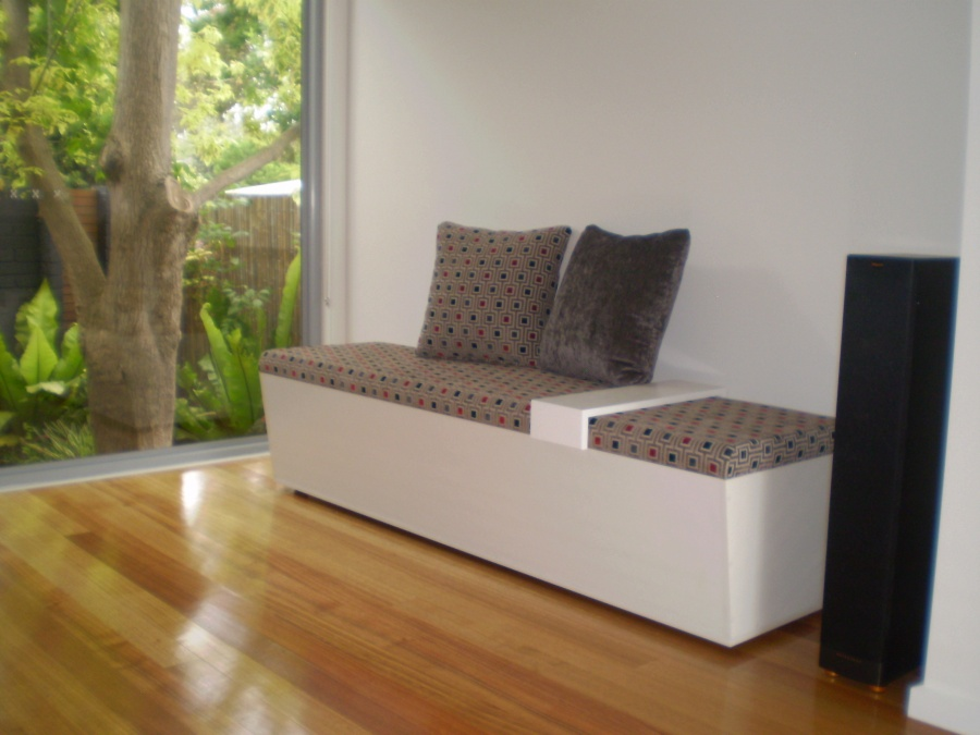 Custom Made Window Storage Seats And Seat Cushions Are Available From JARO Upholstery Melbourne
