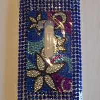 Nokia Lumia 920 Bling Blue Flowers Case Cover