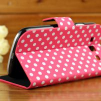 Samsung Galaxy 3 Polka Dot Case - Red and White