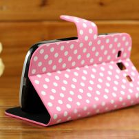 Samsung Galaxy 3 Polka Dot Case - Pink and White