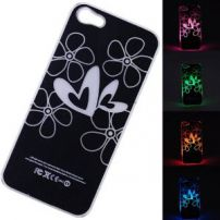 Iphone 5 LED Flashing Light Case Cover - Hearts and Flowers