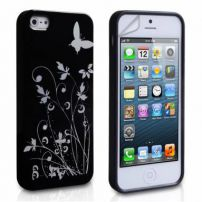 Iphone 5 Butterfly In The Garden Case Cover - Black