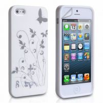 Iphone 5 Butterfly In The Garden Case Cover - White
