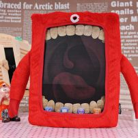 iPad Mini Monster Cyclops Fluffy Case Cover - Red