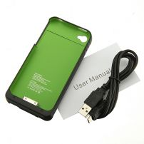 Iphone 4/4S Battery Case 1900mAh Cover - Green