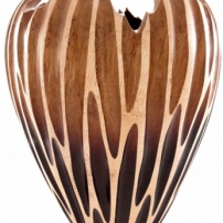 Mango Wood unique handcrafted vase open space