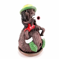 Ceramic incense holder Rasta 19cm