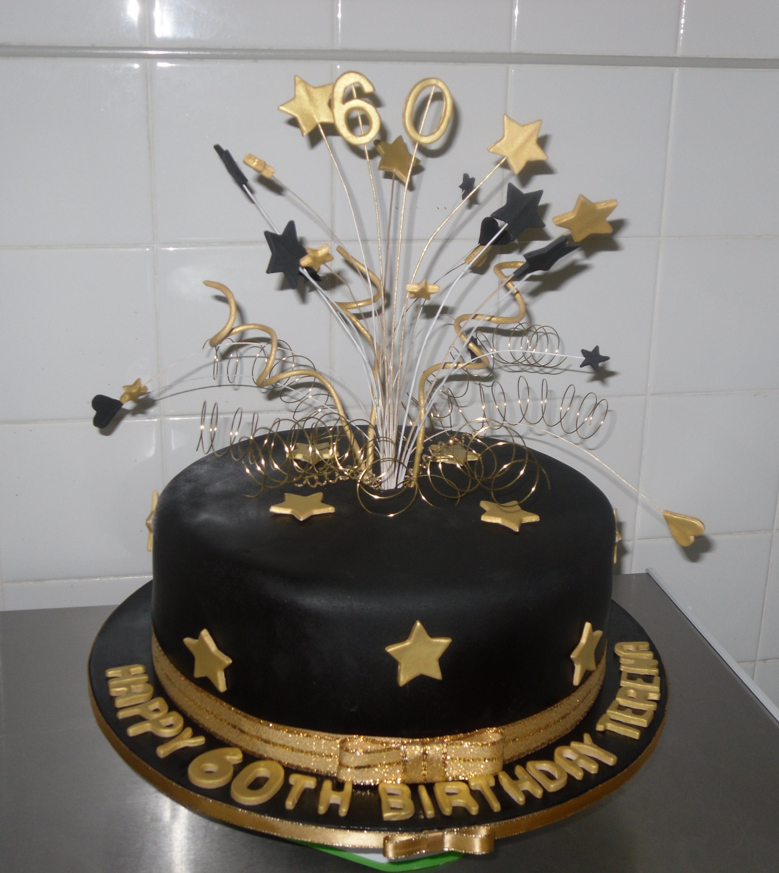 Black and Gold cake - Annette s Heavenly Cakes