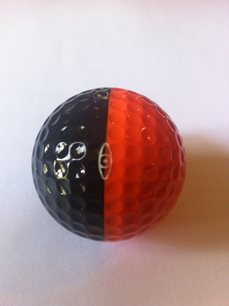 zz Ping - Black / Orange Ping golf ball - SOLD