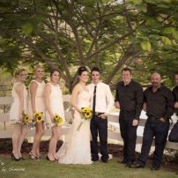 Simply stunning sunflower wedding