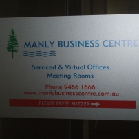Manly Business Centre Logo printed on Frost