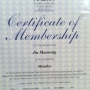 AACMA Membership Certificate