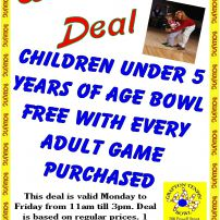 Kids Under 5 Bowl Free