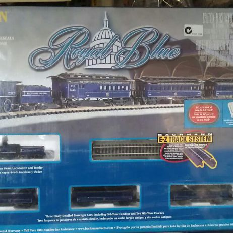 ROYAL BLUE TRAINSET