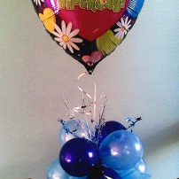 Foil with cluster ballon base