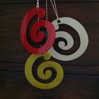Pair of Koru Decorations - Acrylic (Large)
