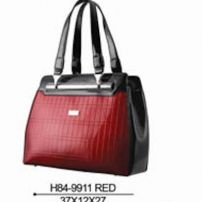 Serenade Leather Red Black Trim Handbag