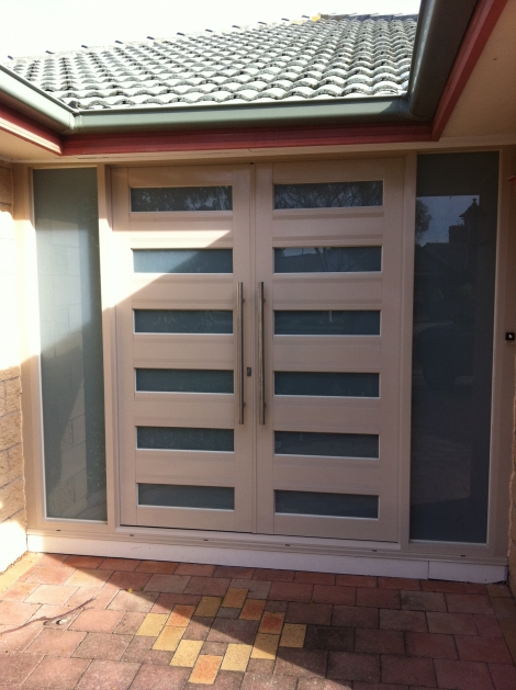Commercial aluminium hinged doors for your front entry