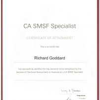 SMSF Certificate