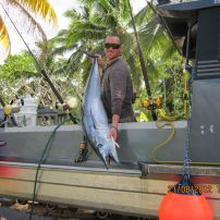 skipper bj with a huge wahoo august 2012