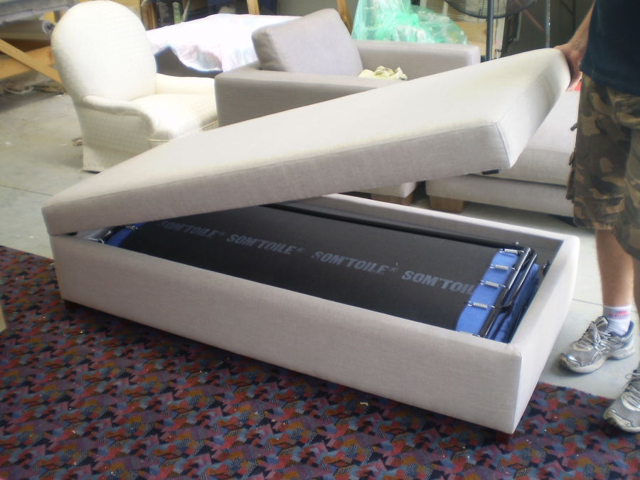 Jaro Makes Sofa Beds And Ottomans With A Fold Out Bed